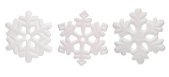 Ornamentos de la escama de la nieve Fotos de archivo