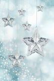 Ornamentos de la estrella de la Navidad Foto de archivo libre de regalías