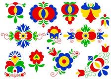 Ornamentos de la gente de Moravian stock de ilustración