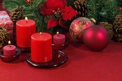 Ornamentos de la Navidad Fotografía de archivo