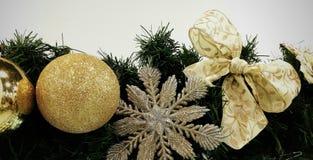 Ornamentos de la Navidad Foto de archivo