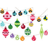 Ornamentos de la Navidad stock de ilustración