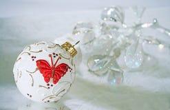 Ornamentos de la Navidad foto de archivo libre de regalías