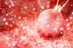 Ornamentos de la Navidad con Stardust rosado Fotos de archivo