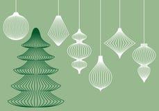Ornamentos de la Navidad, conjunto del vector libre illustration