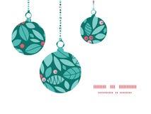 Ornamentos de la Navidad de las bayas del acebo de la Navidad del vector Fotos de archivo