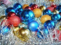 Ornamentos de la Navidad, decoraciones, aún vida, fondo, composición Foto de archivo