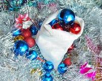 Ornamentos de la Navidad, decoraciones, aún vida, fondo, composición Fotografía de archivo