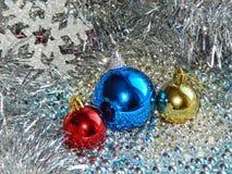 Ornamentos de la Navidad, decoraciones, aún vida, fondo, composición Fotos de archivo libres de regalías