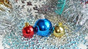 Ornamentos de la Navidad, decoraciones, aún vida, fondo, composición Foto de archivo libre de regalías