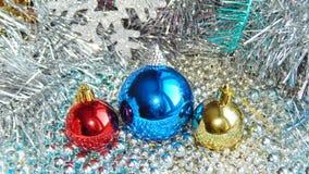 Ornamentos de la Navidad, decoraciones, aún vida, fondo, composición Imágenes de archivo libres de regalías
