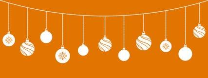 Ornamentos de la Navidad Decoraciones de las bolas de la Navidad ilustración del vector
