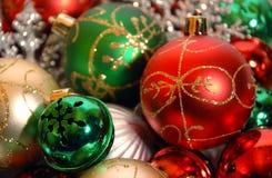 Ornamentos de la Navidad en el fondo blanco Imagen de archivo libre de regalías
