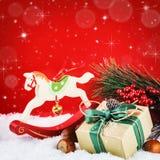 Ornamentos de la Navidad en estilo del vintage Imagen de archivo libre de regalías