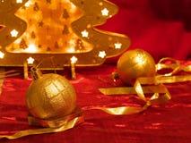 Ornamentos de la Navidad en rojo Imagen de archivo libre de regalías