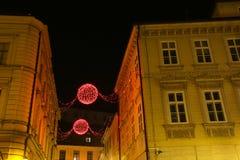 Ornamentos de la Navidad en Zagreb Fotografía de archivo
