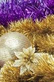 Ornamentos de la Navidad fijados Fotos de archivo libres de regalías