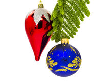 Ornamentos de la Navidad para las decoraciones del Año Nuevo Imagen de archivo