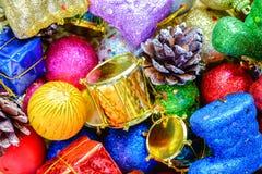 Ornamentos de la Navidad y del Año Nuevo Imagen de archivo libre de regalías