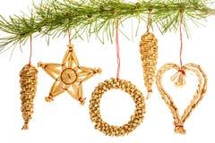 Ornamentos de la paja Foto de archivo libre de regalías