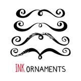 Ornamentos de la tinta Imagen de archivo libre de regalías