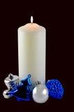 Ornamentos de la vela de la Navidad Fotografía de archivo