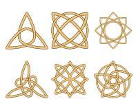 Ornamentos de la vendimia. Nudos célticos Imagen de archivo