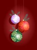 Ornamentos de las bolas de la Navidad Fotos de archivo