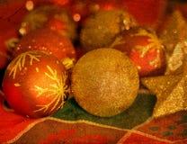 Ornamentos de las bolas de la Navidad Imagen de archivo libre de regalías