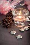 Ornamentos de las tarjetas del día de San Valentín Imagen de archivo libre de regalías