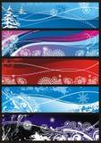 Ornamentos de los copos de nieve del invierno para el fondo Imagen de archivo