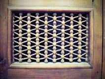 Ornamentos de madera de la puerta Imágenes de archivo libres de regalías