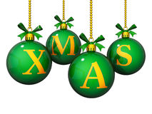 Ornamentos de Navidad Foto de archivo
