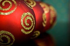 Ornamentos de Navidad Imagenes de archivo