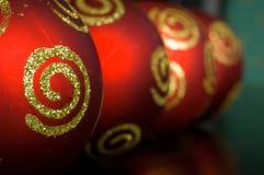 Ornamentos de Navidad Fotografía de archivo