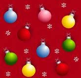 Ornamentos de Navidad de Tileable Imagen de archivo