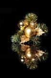 Ornamentos de Noel en negro Imagen de archivo libre de regalías
