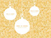 Ornamentos de oro de la Navidad de las rosas del cordón del vector stock de ilustración