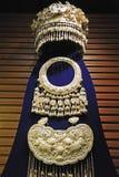 Ornamentos de plata de la minoría china de Miao Fotografía de archivo libre de regalías