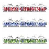 Ornamentos de plata de la Navidad stock de ilustración