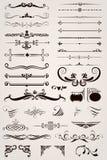 Ornamentos decorativos de los elementos Foto de archivo