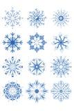Ornamentos decorativos del copo de nieve Imágenes de archivo libres de regalías