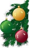 Ornamentos del árbol imágenes de archivo libres de regalías