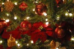 Ornamentos del árbol de navidad Fotografía de archivo