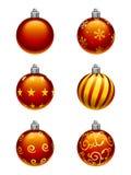 Ornamentos del árbol de navidad ilustración del vector