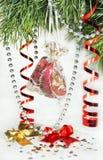 Ornamentos del árbol de navidad Fotos de archivo libres de regalías