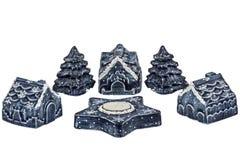 Ornamentos del Año Nuevo y de la Navidad Imagen de archivo libre de regalías