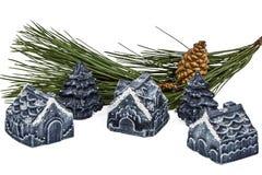 Ornamentos del Año Nuevo y de la Navidad Fotos de archivo libres de regalías