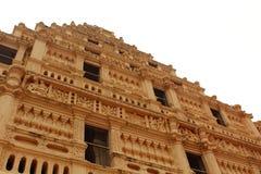 Ornamentos del campanario en el palacio del maratha del thanjavur Fotografía de archivo