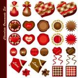 Ornamentos del chocolate fijados Fotos de archivo libres de regalías